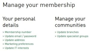 Screenshop of Manage your communities link